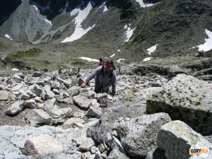 Przed samym szczytem Małej Wysokiej (2429 m)