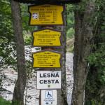 Dolina Białej Wody - początek szlaku na Łysej Polanie