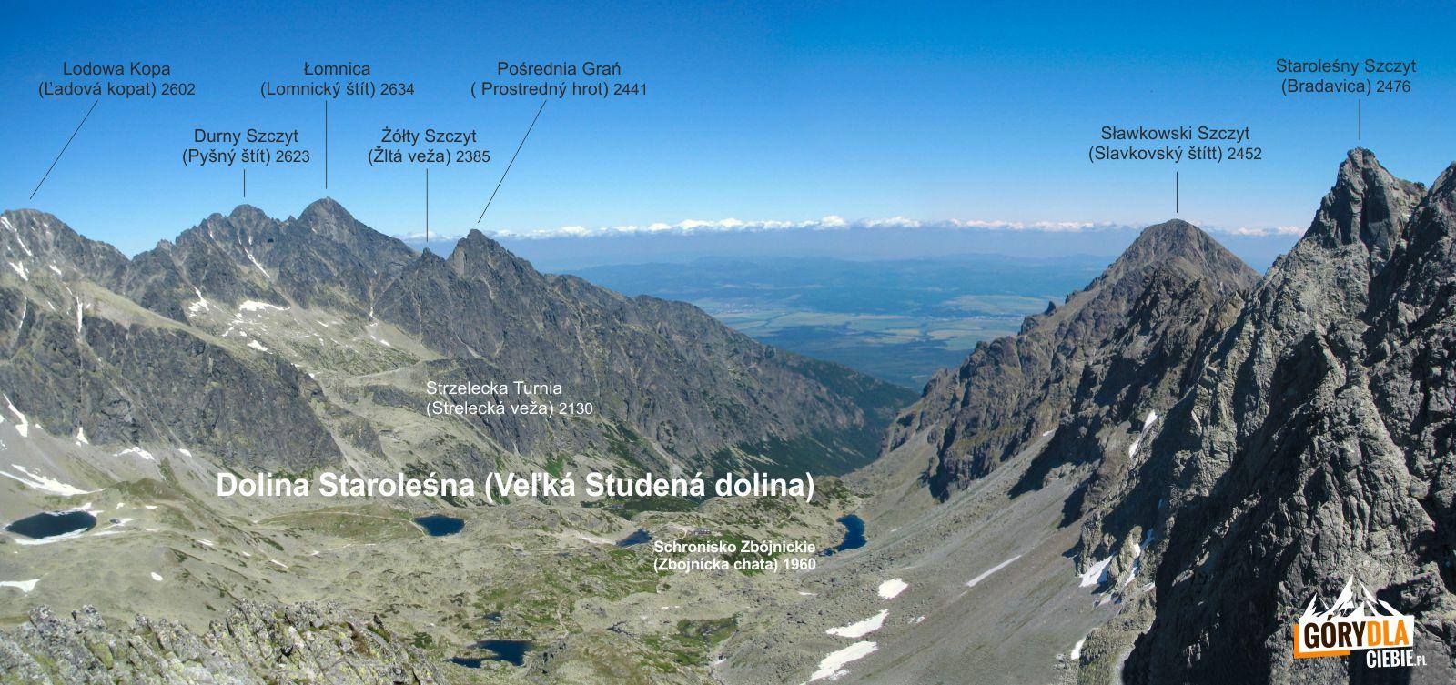 Mała Wysoka - panorama Doliny Staroleśnej