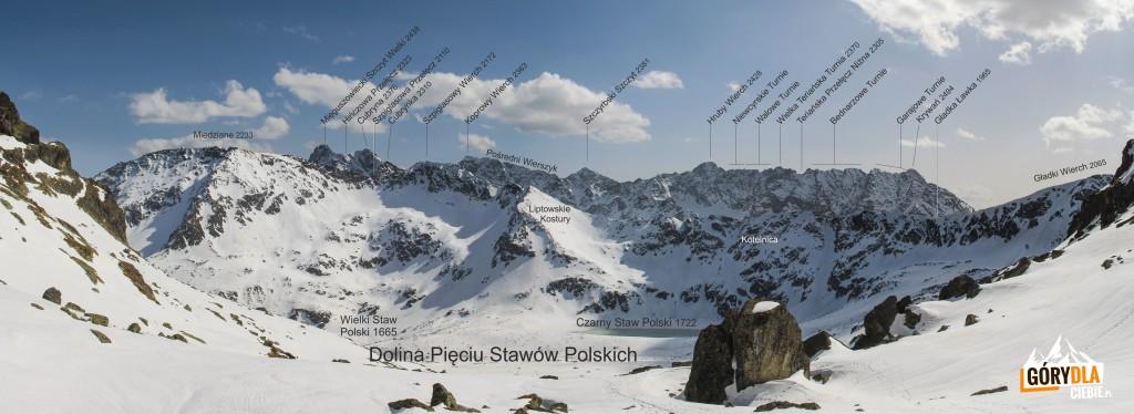 Widok z progu Pustej Dolinki