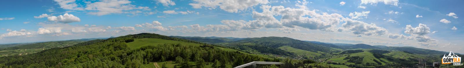 Panorama zGrzywackiej Góry