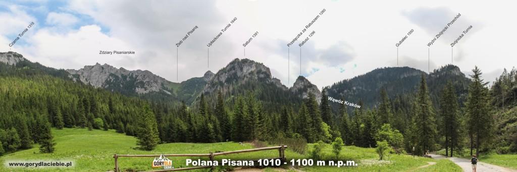 Panorama z Polany Pisanej w Dolinie Kościeiskiej
