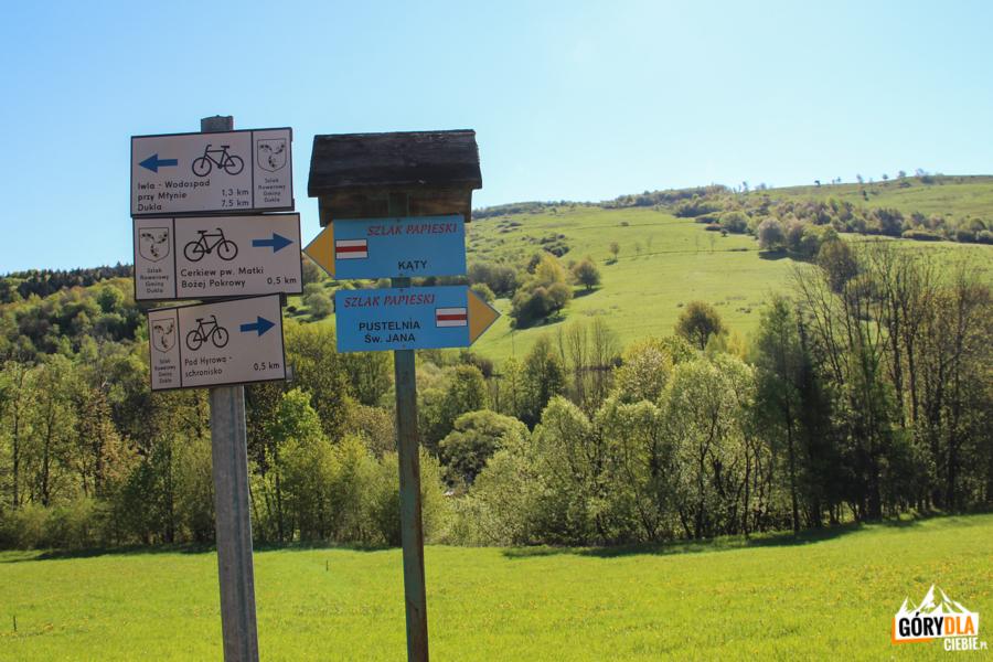 Szlaki rowerowe i turystyczne w Chyrowej
