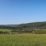 Widok z drogi nad Myscową