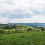 Panorama na trasie czerwonego szlaku na Grzywacką Górę
