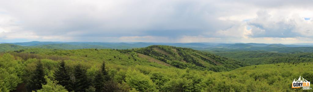 Panorama zwieży widokowej naBaranich