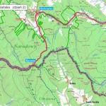 Beskid Niski (Tylawa - Huta Polańska) mapa