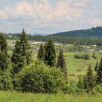 Widok na Sianki z punktu widokowego Wierszek 871 m