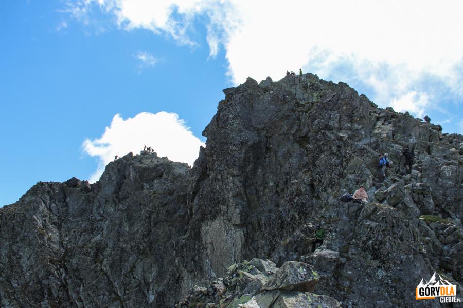Wierzchołki Rysów - północny 2499 m i środkowy 2503 m