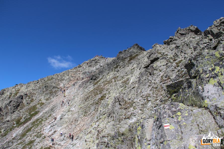 Zejście z Rysów na słowacką stronę