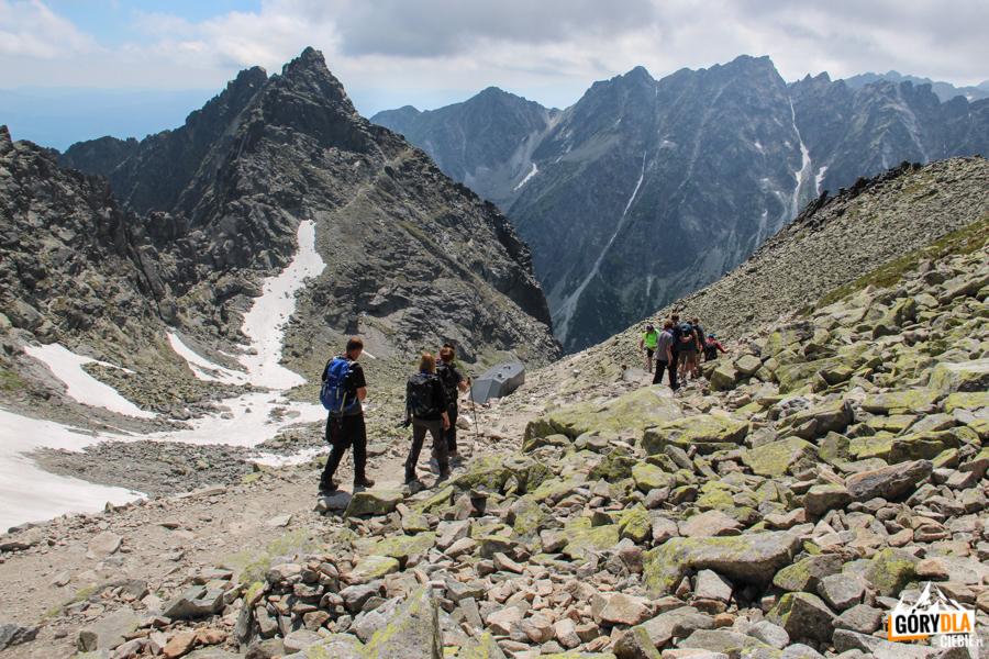 Zejście do Schroniska pod Rysami (słow. Chata pod Rysmi 2250 m)