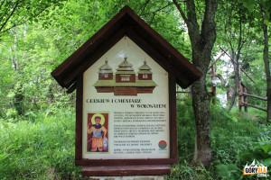 Cmantarz i miejsce gzie stała cerkiew w Wołosatem