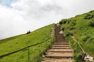 Schody na szczyt Tarnicy