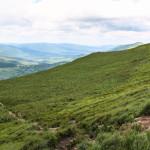 Połonina Caryńska - zejście do Brzegów Górnych