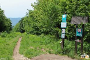 Szlak prowadzący na stronę słowacką