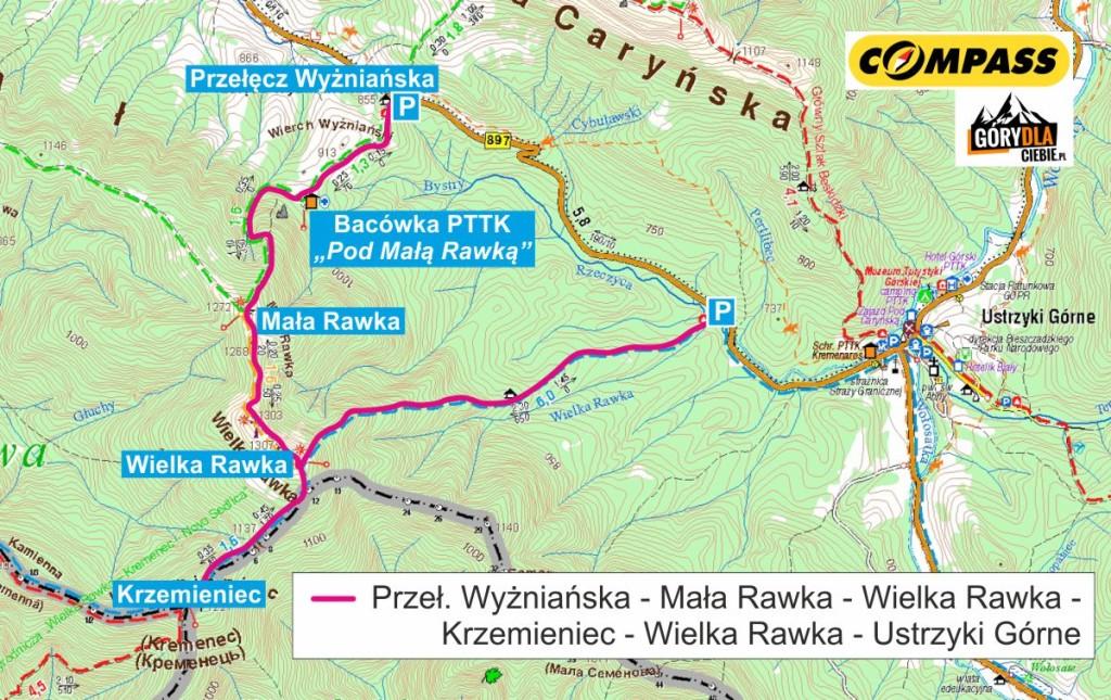 Rawka - mapa