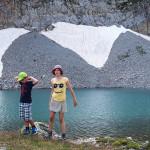 Zosia i Michał nad jeziorem Clarée