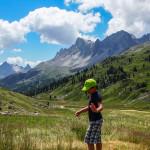 Michał w drodze do jeziora Clarée