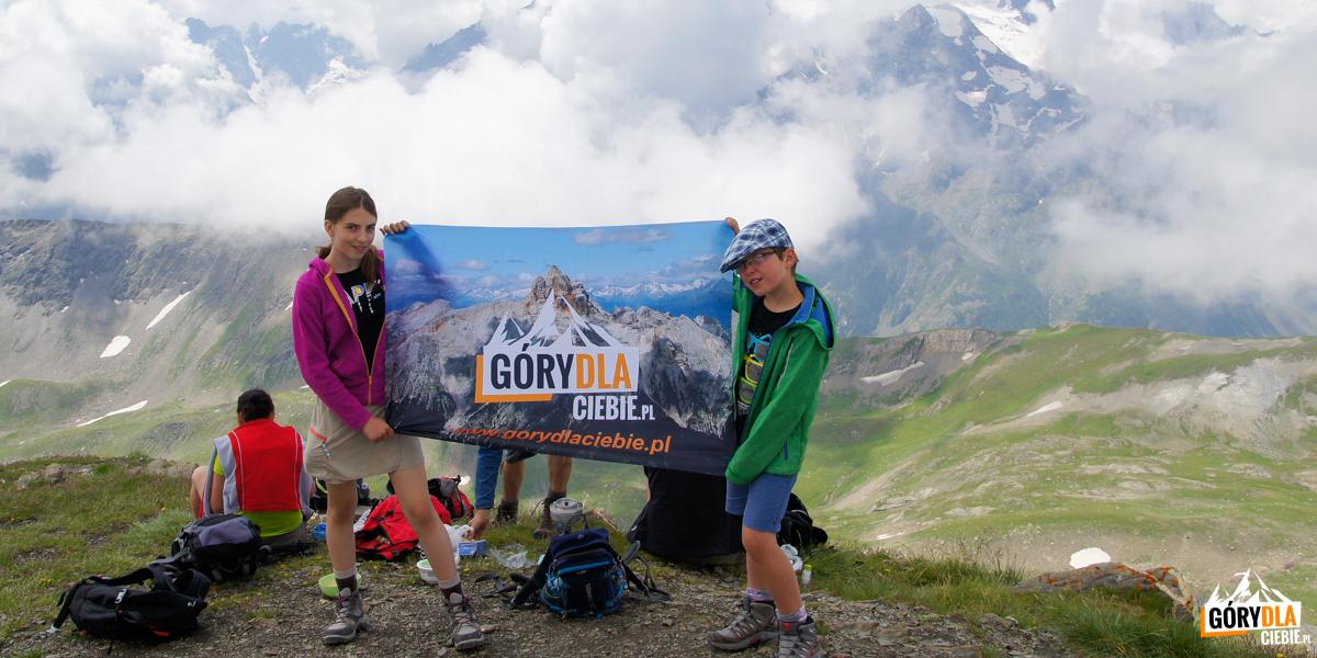 Zosia i Michał na Pic Blanc du Galibier (2955 m)