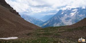 Zejscie z Pic Blanc du Galibier (2955 m)