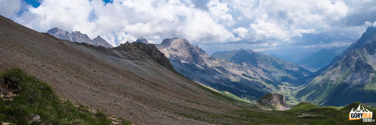 Zejscie zPic Blanc du Galibier (2955 m)