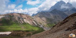 Widoki z drogi na Pic Blanc du Galibier