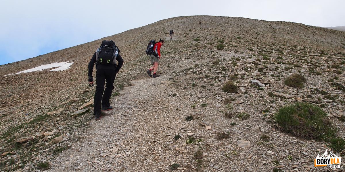 Strome podejście do szczytu Pic 2826 m