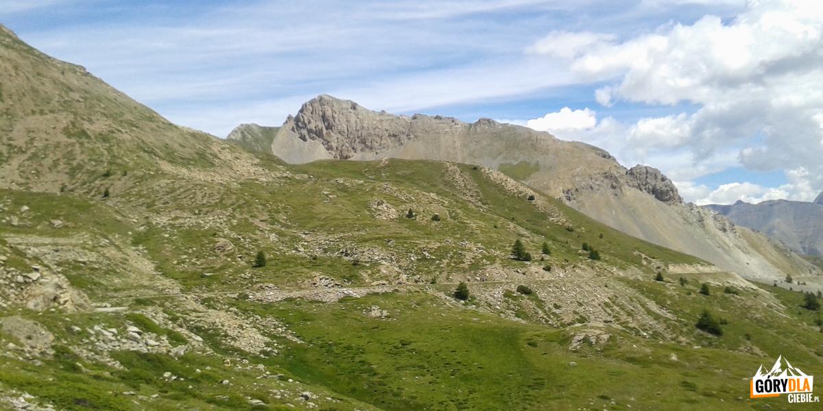 Na trasie z przełęczy Granon do Fort de l'Olive
