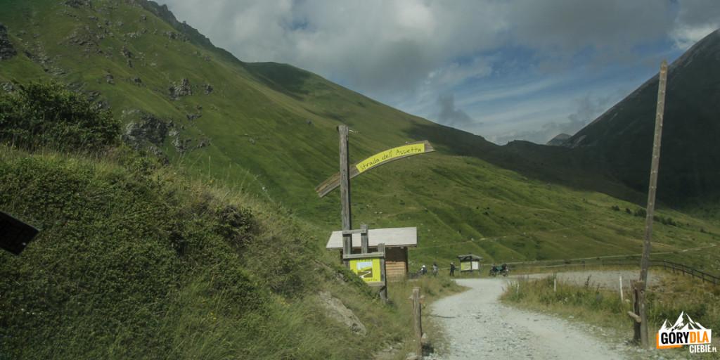 Pian dell'Alpe - tu kończy się Strada dell'Assietta