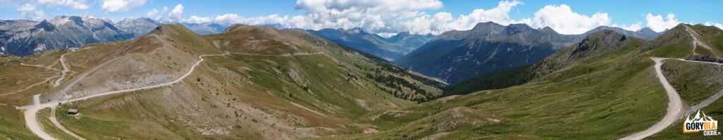 Widoki zprzełęczy Basset 2424 m