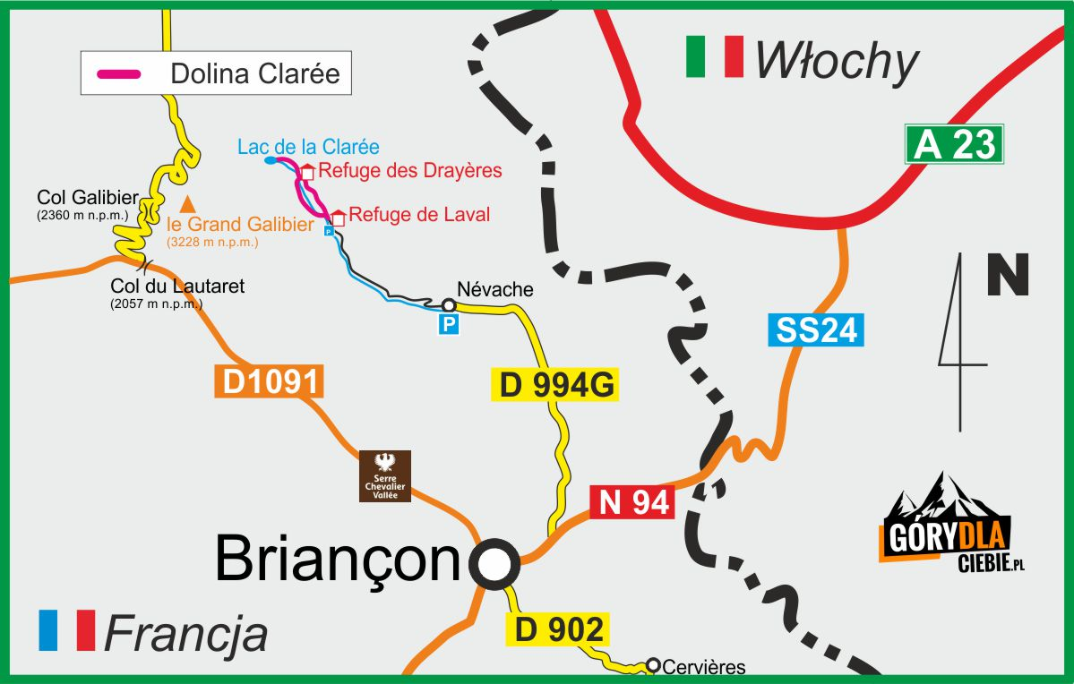 Dolina Clarée plan wyprawy