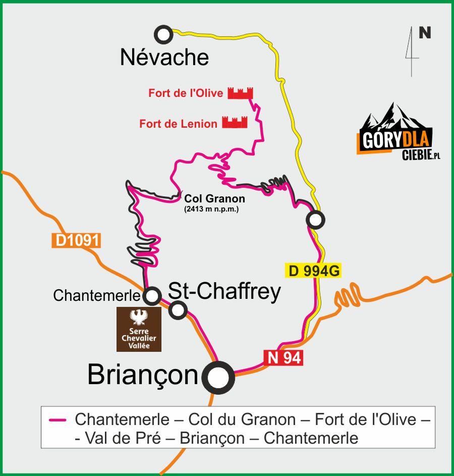 Fort de l'Olive plan wyprawy