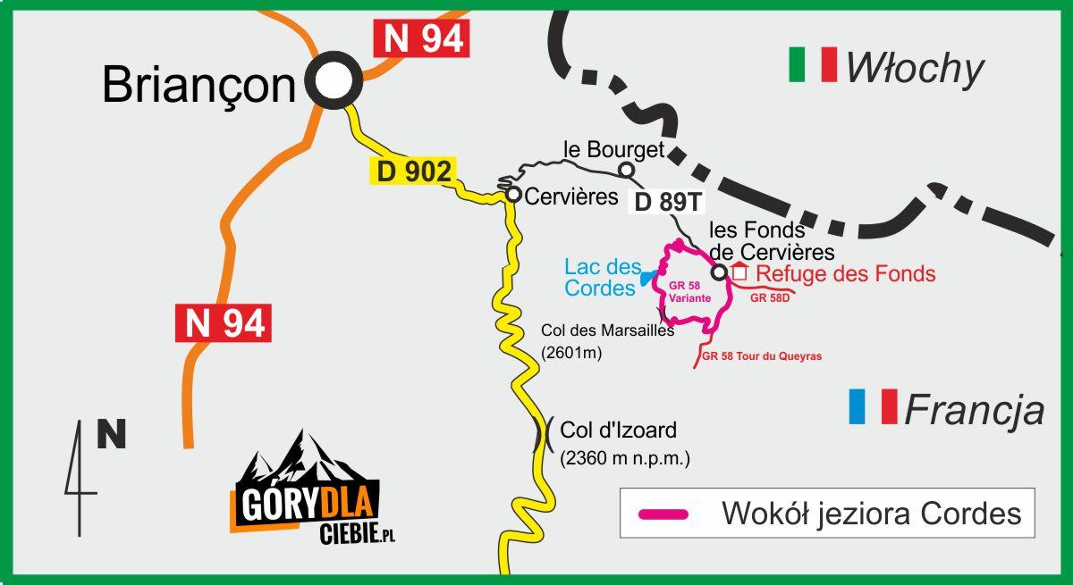Jezioro Cordes plan wyprawy