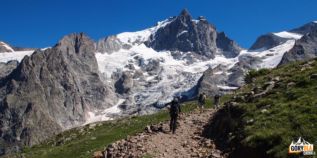 Szczyt i lodowiec La Meije