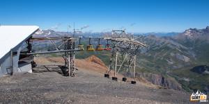 Górna stacja kolejki na Col des Ruillans