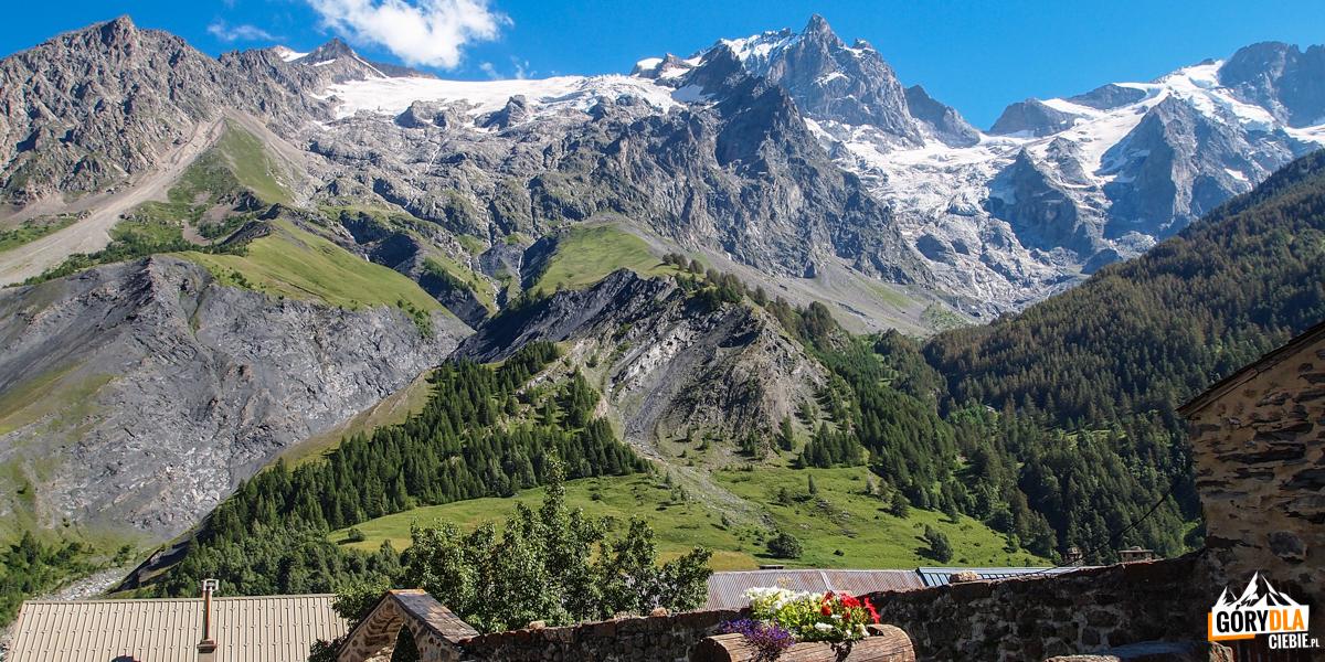Miasteczko La Grave w Alpach Wysokich