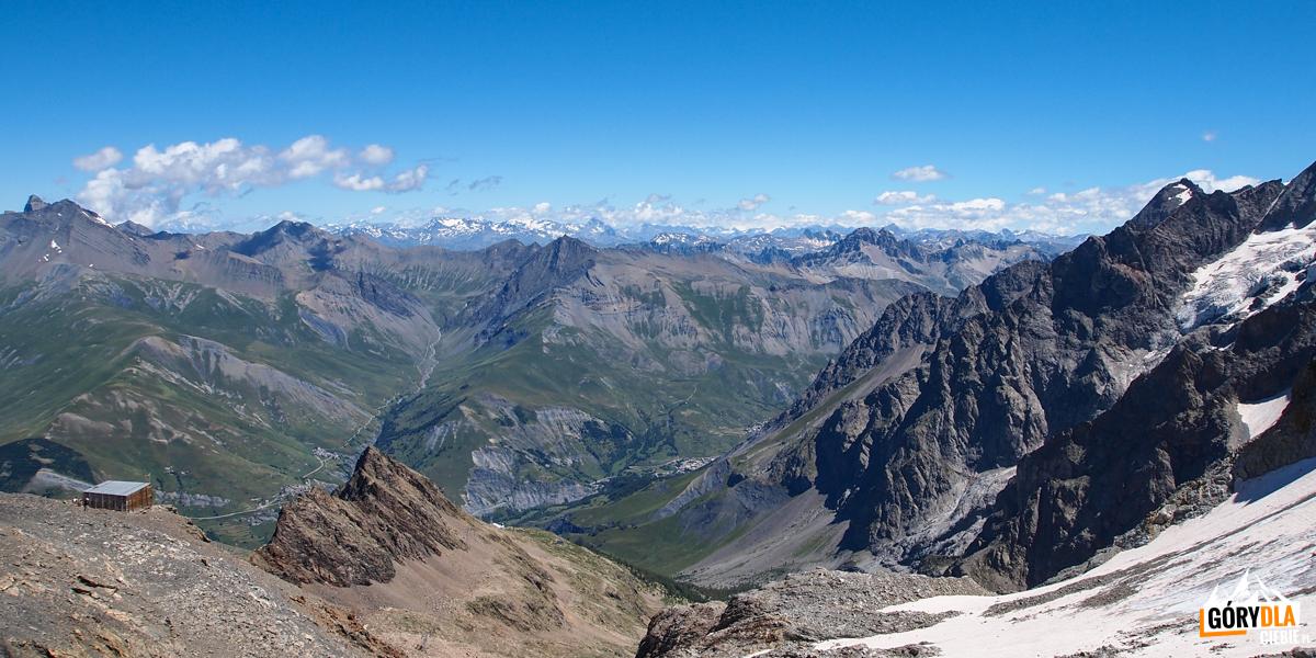 Widoki z górnej stacji kolejki na Col des Ruillans