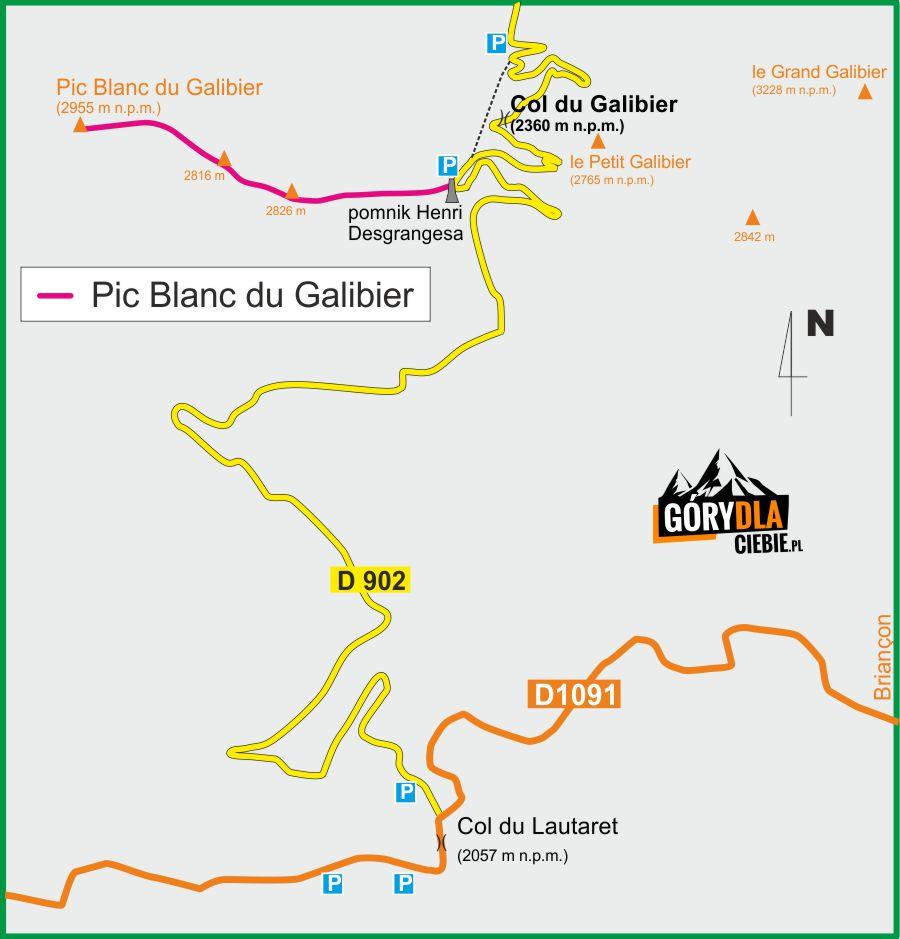 Pic Blanc du Galibier plan wyprawy