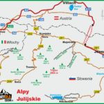 Alpy Julijskie mapa schematyczna