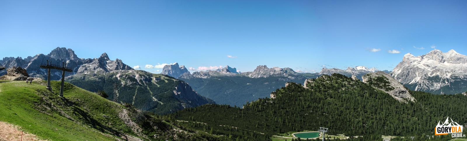 Panoramy otoczenia Cortiny d'Ampezzo