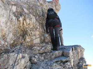 Na trasie ferraty Marino Bianchi na Cristallo di Mezzo (2932 m)