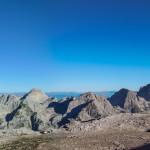 Panorama spod schroniska Triglavski dom na Kredarici