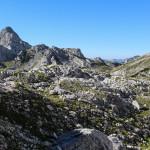 Panorama ze szlaku trasy turystycznej na Triglav - odcinek do schroniska Triglavski dom na Kredarici