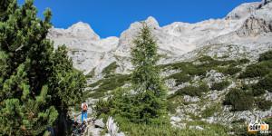Podejście trasą turystyczną do schroniska Triglavski dom na Kredarici