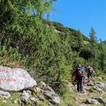 Skrzyżowanie szlaków do Domu Planika i do Triglavskiego domu na Kredarici