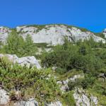 Panorama ze szlaku trasy turystycznej na Triglav