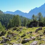 Na szlaku trasy turystycznej na Triglav