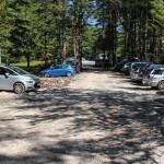 Parking Pri lesi - punkt startu szlaku turystycznego z doliny Krma