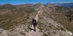 Na grani przed szczytem Croix de la Cime