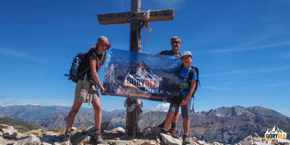 Na Na grani przed szczycie Croix de la Cime (2603 m)